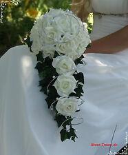 Excl. Bouquet de la Mariée en crème à la vanille Roses, Mariage, mariée