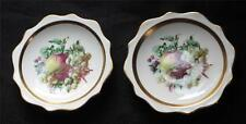 "Vintg ROYAL ALBERT Bone China England FRUITS Pattern 4 1/2"" 2 Nut Trinket Dishes"