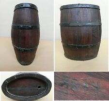 Dated 1874 MARKED Antique/Vintage Wood Wooden Wine/Brandy/Whisky Keg Cask Barrel