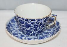 Ridgway - Blue Chintz - Tea Cup and Saucer - c1882