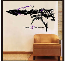 Anime Black Rock Shooter Insane Version Wall Sticker Bedroom Waterproof MH