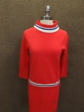 Fire Islander Vtg 1950s 60s BOLD PINK Poly Knit SWEATER TOP & SKIRT 9/10 Madmen