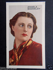 figurines figurine attori cigarette cards #23 angela baddeley actrices actress v