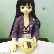 MSD DOC Obitsu 1/4 Bjd Doll Miniature Mini Dim Sum Steamed Bun Chocolate & Cream