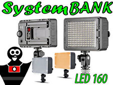 LED 160 Video Illuminatore Lampada Luce Dimmerabile per Videocamera Camera DV
