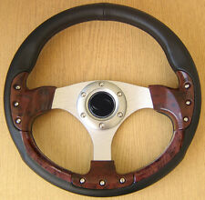 Zebrano Wooden Steering Wheel for  MERCEDES W201 190 E 190D