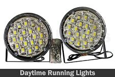 2 x 90mm Round 18 LED Front DRL Daytime Running Lights Fog Lamps White 050-5