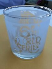 76TH  WORLD SERIES.  FROSTED COCKTAIL GLASS.  1979