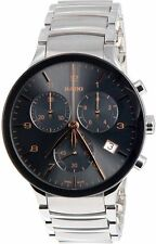 Rado Centrix XL Chronograph Grey Dial Stainless Steel Mens Watch R30122103
