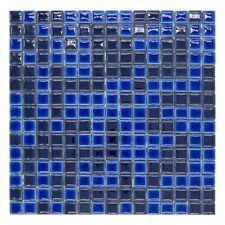 CERAMICA DI TREVISO mosaico da rivestimento 2x2 miscela BLU MIX (fogli 30x30)