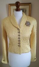 Authentic Christian Dior Vintage Yellow Cropped Jacket FR34 UK6