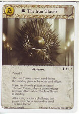 3 x The Iron Throne AGoT LCG Game of Thrones A Dire Message 115