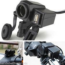 Motorcycle USB Waterproof Cigarette Lighter Charger Socket Port Outlet For Honda