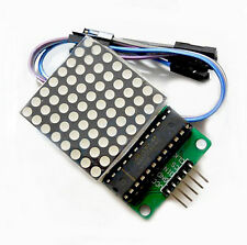 MAX7219 Dot led matrix module MCU control LED Display module & wire for Arduino