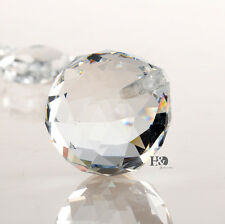 25 Clear Crystal Glass Chandelier Light Ball Prisms Suncatcher Drop Pendant 20MM