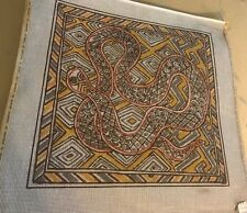 Vintage Abstract Serpent design needlepoint Hand painted canvas Big 18X18