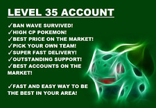 POKEMON-GO-ACCOUNT-LEVEL-35 | LOTS OF CANDY | TYRANITARS | GEN 2 | CHEAPEST DEAL