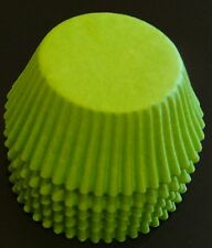 50 Lime Green Cupcake Liners Baking Cups STANDARD SIZE BC-35-50 NEW