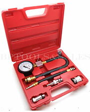 "Automotive Compression Tester 2 Adapters 2-1/2"" Diameter Gauge Gas Engine Tester"