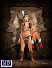 Masterbox 1/24 SCALE NATIVE AMERICAN INDIAN  Pin Up Thunder Spirit  MAS24019