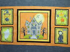 "Great Haunted House Halloween Quilting Fabric 23"" Panel #225"