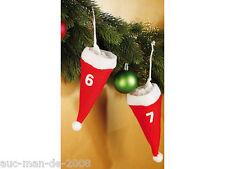Schöner Adventskalender zum selbstbefüllen 24 Nikolaus Säckchen befüllbar Mützen