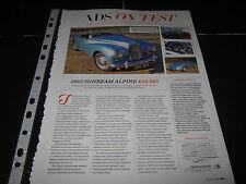 Sunbeam Alpine Reg XSK324 artículo & Morris Mini Cooper S Reg. artículo OXD689F