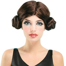 #LEIA SPACE PRINCESS WIG FANCY DRESS STAR WARS PARTY DISGUISE