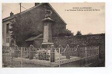 POURU SAINT REMY Ardennes CPA 08 monument à ses enfants morts pour la patrie