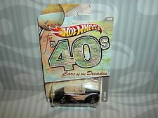 "HOTWHEELS ""CARS OF THE DECADES'' = `40 FORD  = BLACK"