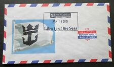 ms Liberty Of The Seas . Royal Caribbean Stamped On Board Ship Postal Cover Boat