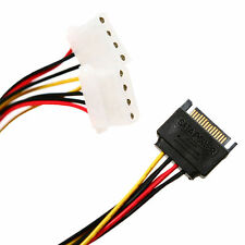 2x IDE/Molex 4-Pin to SATA 15-Pin Power Splitter Y Adapter Cable