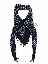 Hirbawi Kufiya White on Black Original Arab Scarf palestinian shemagh