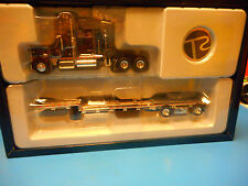 "TONKIN REPLICAS PRECISION SERIES   TRACTOR AND FLAT BED  TRAILER   ""NIB"""