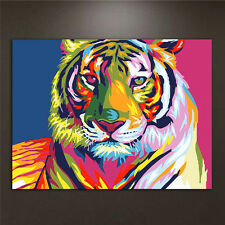 Tiger Acrylic Paint By Number Kit DIY Oil Painting Drawing On Canvas Home Decor