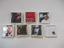 COLLECTION OF 7 GEORGE MICHAEL  ALBUM COVER BADGES /PINS  FREE POSTAGE IN THE UK