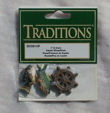 Mini Kaolin Fish and Captains Wheel, Craft Miniatures by Traditions