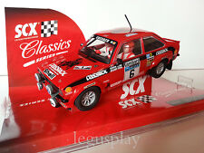Slot SCX Scalextric 62800 Ford Escort MKII Lombard Rally Nº6 R.Clark S.Pegg