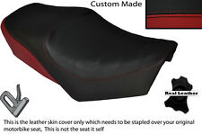 BLACK & DARK RED CUSTOM FITS YAMAHA SPECIAL SR 250 DUAL LEATHER SEAT COVER