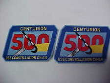 """2 USS Constellation CV-64 """"Tail Hook Club"""" For 500 Landing Assists"""