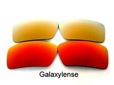 Galaxy Replacement Lenses For Oakley Eyepatch 1&2 Red&Gold Polarized 2Pairs