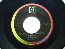 THE BEATLES ♫ DO YOU WANT TO KNOW A SECRET  ♫ 1964 VJ-587 LABEL ERROR