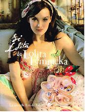 PUBLICITE ADVERTISING  2011  LOLITA LEMPICKA  parfum  SI
