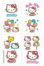 1 Sheet Hello Kitty Temporary Tattoos (8 Perforations) Party Favors