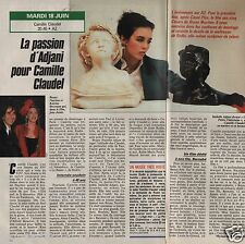 Coupure de presse Clipping 1991 Isabelle Adjani Camille Claudel (1 page 1/2)