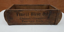 Finest Olive Oil Wooden Shabby Storage Boxes Chests Crates Vintage