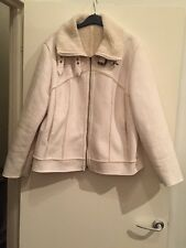 Gorgeous White Suede Effect Jacket NEXT Size 18