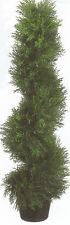 3' TOPIARY ARTIFICIAL OUTDOOR TREE CEDAR SPIRAL BUSH CYPRESS POOL PATIO PORCH 3'