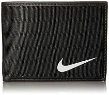 NIKE TECH ESSENTIAL SLIMFOLD WALLET Black Credit Card Cash BRAND NEW