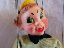 Hazelle's Marionette Little Boy with Yellow Hat Puppet with Airplane Control